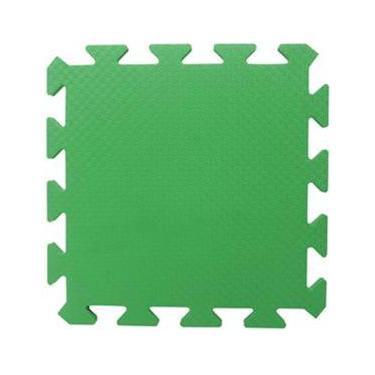 Tapete Tatame Piso EVA Liso Academia Bebe Escola Verde Bandeira 50x50x1cm 10mm