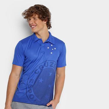 40654a2381 Camisa Polo Cruzeiro Shadow Estampa Masculina - Masculino
