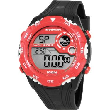 45ffdd30400c5 Relógio Masculino Technos Clubes Digital Casual Internacional INT1360 8R