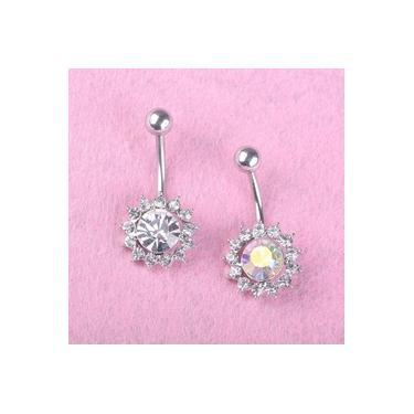 Charming Cristal Zircon piercing no umbigo barriga Surgical Bot?o An¨¦is Umbigo