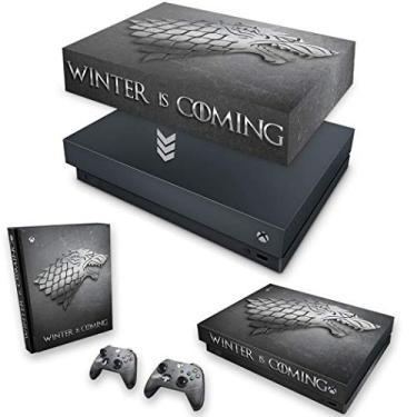 Capa Anti Poeira e Skin para Xbox One X - Game Of Thrones Stark