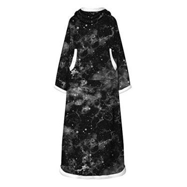 Doufine Vestidos femininos quentes com estampa tie dye de manga comprida e estampa digital, As4, One Size