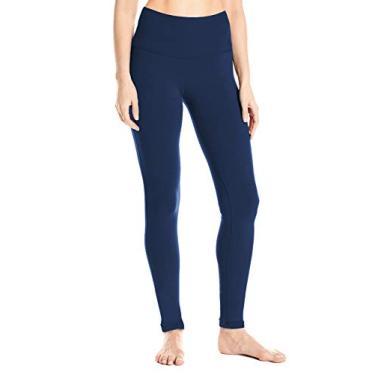 """Yogipace Calça legging feminina 78,7 cm/86,3 cm/91,4 cm cintura alta extra longa para ioga e treino ativo, Azul marinho, X-Small/34"""" Inseam"""