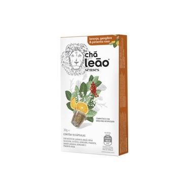 Chá de Laranja, Pimenta Rosa e Gengibre 10 Cápsulas - Leão Senses