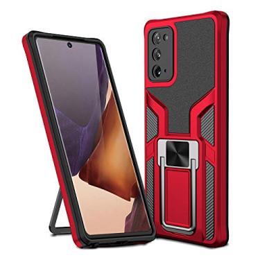 MOONCASE Capa para Samsung Galaxy Note 20, suporte magnético para carro, capa de proteção à prova de choque para Samsung Galaxy Note 20 de 6,5 polegadas - Vermelho