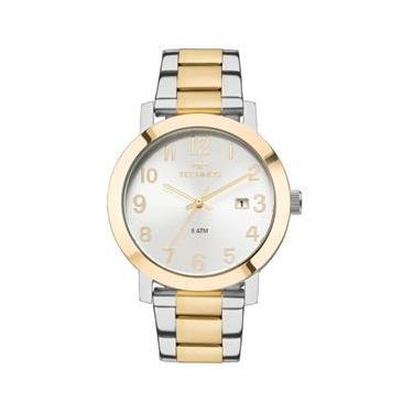 a69197d4305 Relógio Feminino Technos Dress 2115MNF 5K Pulseira Aço Bicolor Prata Dourado