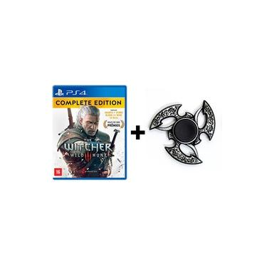 The Witcher 3 Wild Hunt: Complete Edition - PS4 + Hand Spinner Prata Velha