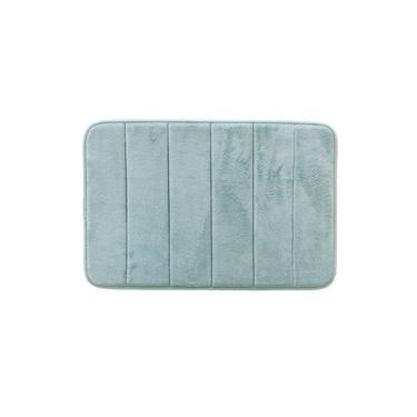 Imagem de Tapete Para Banheiro Antiderrapante Soft Verde Piscina 40X60