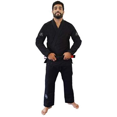 Kimono Jiu Jitsu Balance Keiko Unissex, Preto, A1H