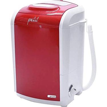 Imagem de Mini Lavadora de Roupas Portátil Tanquinho Petit Vermelha 220v Até 1,2kg de Roupas Com 5 Modos de Lavagem e Baixo Consumo de Energia e Água