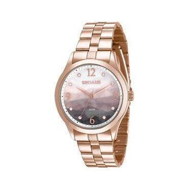 5d43ea31e65 Relógio Seculus Feminino Rosê 77011lpsvrs2