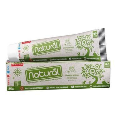 Pasta ou Creme Dental Natural Sem Flúor - 80g - Contente - Suavetex