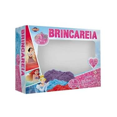 Imagem de Kit Areia De Brincar Caixa Princesas