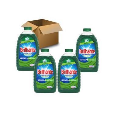 Sabão Líquido Brilhante Roupas Brancas e Coloridas Higiene Total 3L – 04 Unidades