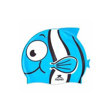 Touca de Natação em Silicone Kid Nemo Azul - Muvin