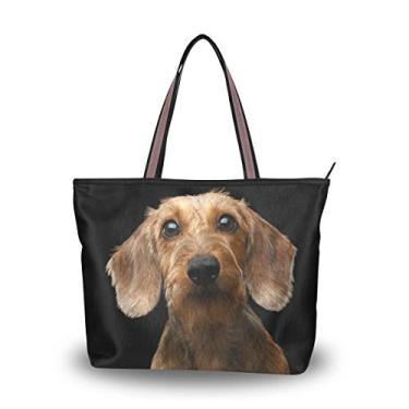 Bolsa de ombro feminina My Daily Dachshund, Multi, Medium