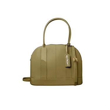 Bolsa Feminina Casual PVC Verde Militar Petite Jolie Original PJ4986
