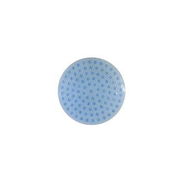 Imagem de Tapete de Box Banheiro Antiderrapante Aqua-Spa Redondo Azul Cristal