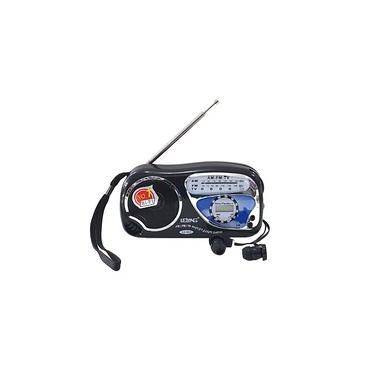 Rádio Portátil AM/FM + Fone de Ouvido LE-603 Preto