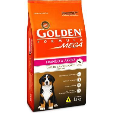 Ração Seca PremieR Pet Golden Mega Cães Filhotes Raças Grandes Frango e Arroz - 15 Kg