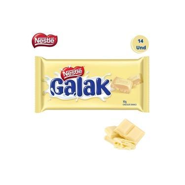 Caixa com 14 Barras Chocolate Galak Branco Nestle 90g
