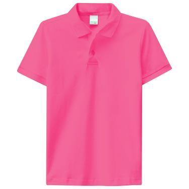 Camisa Polo piquê, Malwee Kids, Meninos, Salmão, 18