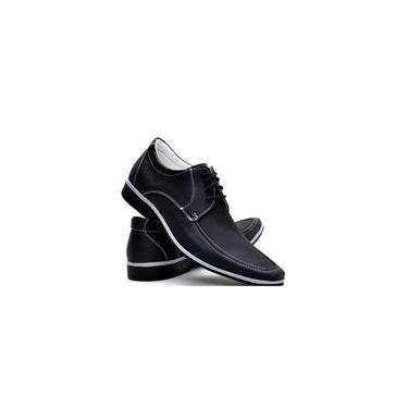 Sapato Social Casual Neway Florense Masculino Preto