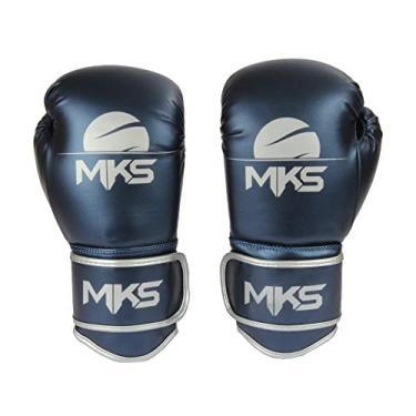 Luva de Boxe Energy, Tamanho 16Oz, MKS, Azul Metálico