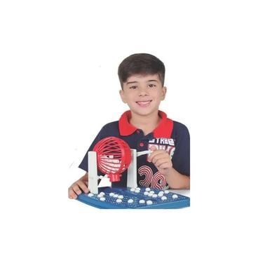 Imagem de Jogo De Bingo Roleta 48 Cartelas 90 Bolinhas Brinquedos - Lugo SBL022