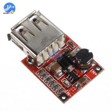 5v 1a usb carregador módulo DC-DC step up boost converter 3v a 5v power bank bateria placa de