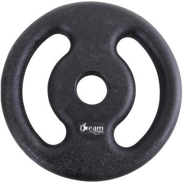 5bbac9a72 Anilha Pintada 20kg em Ferro Fundido Preto - Dream Fitness