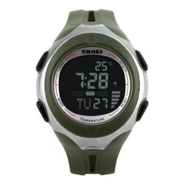 12775a5e829 Relógio Skmei Digital Termômetro 1080 Verde masculino