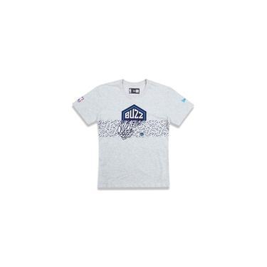 Camiseta Juvenil Buzz Charlotte Hornets Nba Mescla Off White New Era