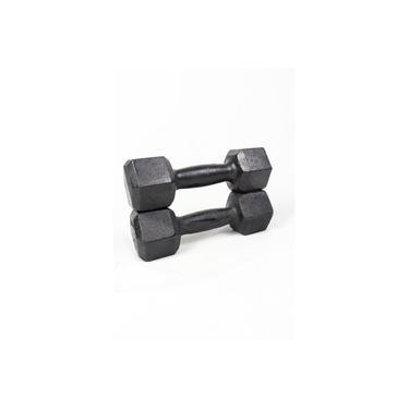 Halter Dumbell Sextavado Pintado 5Kg Para Musculação Megagym