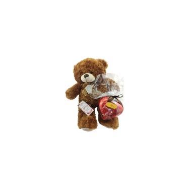 Imagem de Kit Urso Pelúcia Grande Coração de chocolate 370g Eu Sempre Soube Que Era Você