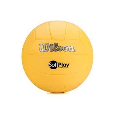33a58d816 Bola De Vôlei Wilson Soft Play Amarela
