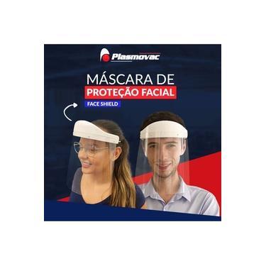 Máscara de Proteção Facial Face Shield - Anti Respingo - Protetor Facial Lavavel - Pode ser usada com a máscara n95 - Cor Branca