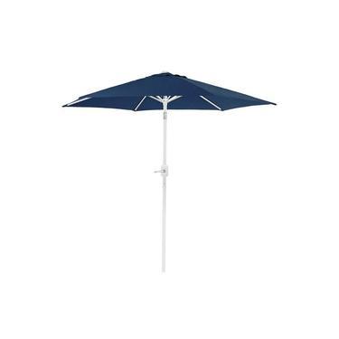 Ombrelone Central Articulado 2,4 m Mor Azul com Manivela e Proteção 35 FPS