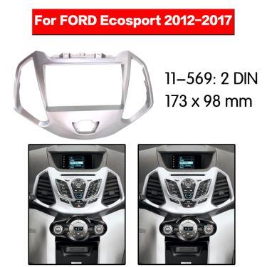 Imagem de Kit multimídia para painel automotivo, 2 din, moldura de som, placa de áudio, para ford ecosport