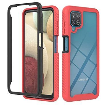 "MOONCASE Capa para Samsung Galaxy A12 5G, bumper de silicone macio resistente e transparente capa absorvente de choque para Samsung Galaxy A12 5G 6,5"" - Vermelho"