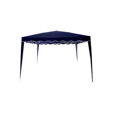 Tenda Articulada Gazebo 3x3m Articulado Alumínio Praia Camping Com Bolsa-Azul