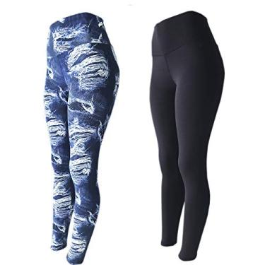 Kit 2 Legging Suplex Estampada Ou Lisa Leg Academia Ginastica, LEGBrasil, jeans-preto, GG