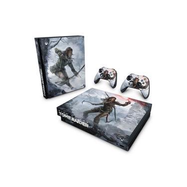 Skin Adesivo para Xbox One X - Rise Of The Tomb Raider