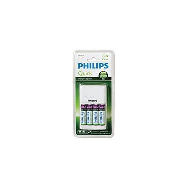 Imagem de Carregador p/pilha recarregável AA/AAA c/4 pilhas AA Philips BT 1 UN