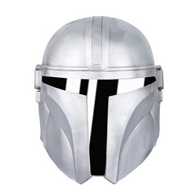 Imagem de Máscara mandaloriana – Capacete de PVC para fantasia de Halloween, Natal, cosplay, fantasia adulta, Látex, M
