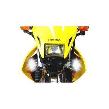 Farol Auxiliar Led 18w Drl Moto Honda Tornado Xr 250 (par)