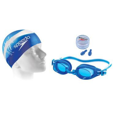 Kit de Natação Speedo Swimkit 30 Azul (Touca fe47ddeefd3