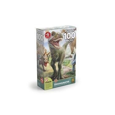 Imagem de Jogo Puzzle 100 Peças Dinossauros Grow 0100 (123259)