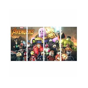 Quadro Infantil Marvel Lego Vingadores Super Heroi 130X65