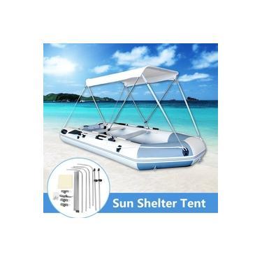 Sgodde Acessórios de Caiaque de Barco Inflável Pesca Sun Shade Rain Dossel Caiaque Kit Veleiro Toldo Tampa Superior 2 Pessoa Abrigo de Barco